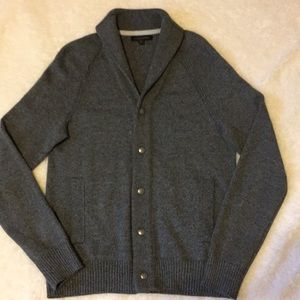 NWOT Banana Republic Gray Button Up Sweater